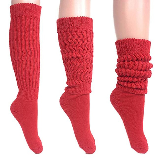 Womens Slouch Socks Off White Fits 9-11