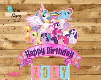 Swell My Little Pony Cake Topper Etsy Personalised Birthday Cards Beptaeletsinfo