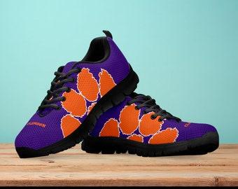 91f27bb54eae Clemson Tigers Fan Unofficial Running Shoes  Women  men  kids sizes