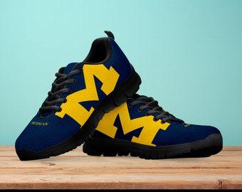Michigan Wolverines Fan Unofficial Running Shoes  Women  men  kids sizes 20a18a563dea