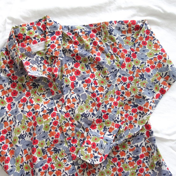 Vintage LIBERTY of London Printed Cotton Shirt / S