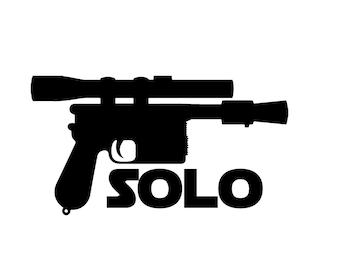 Han Shot First vinyl decal sticker Star Wars Solo Chewbacca Greedo