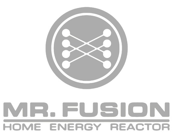 MR FUSION Sticker Die Cut Decal Self Adhesive Vinyl Back to the Future