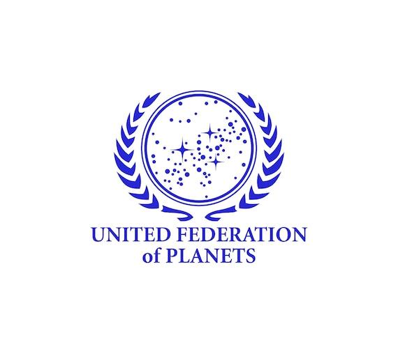 Star Trek United Federation Of Planets Vinyl Decal Sticker Car Van Laptop Tablet