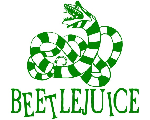 Beetlejuice Betelgeuse Sandworm Vinyl Decal Car Laptop Etsy
