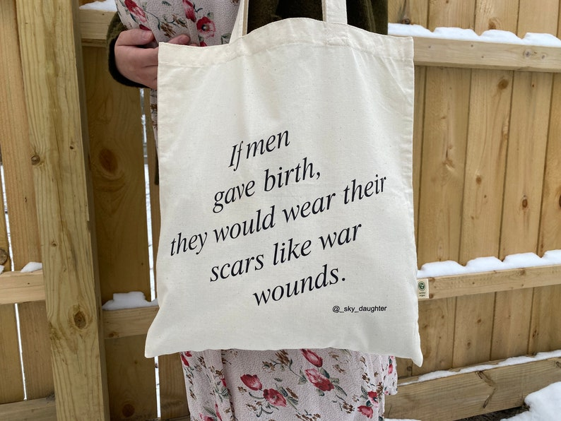 Fierce Woman Mama Mom Baby Shower Gift Babyshower Mama Gift Feminist Equalist Mom Tote Artist Bag Pregnancy New Mom Gift