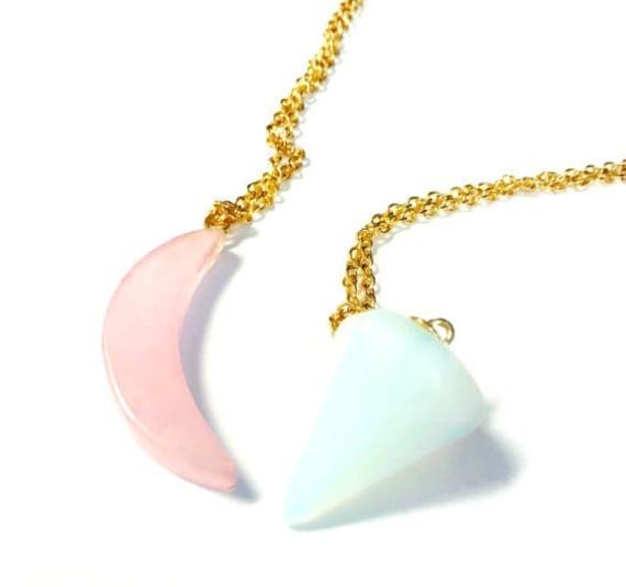 raw crystal chain 2019 summer trend healing stones long gold chain gold circles Teardrop gemstone necklace druzy geometric boho