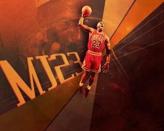 acbec43b4ce Michael Jordan Jump Poster, Canvas or Banner