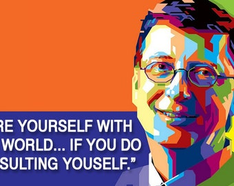 Bill Gates Best Quote Poster or Canvas