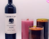 Recycled Wine Bottle Candles  Merlot  Scent