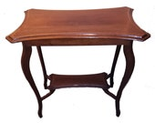 Edwardian Mahogany Occasional Table with Satinwood inlay. c.1910
