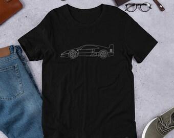 ed7100aaba50 Ferrari F40 Minimal T-Shirt