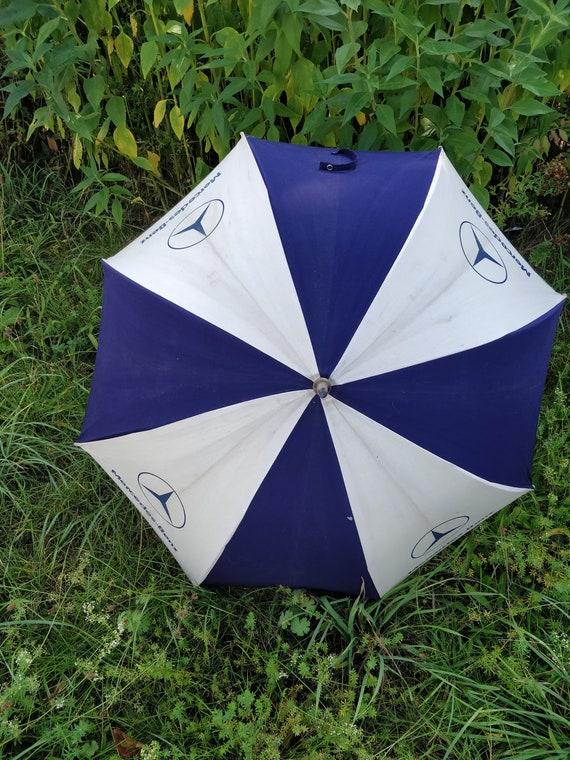 70s Mercedes Benz umbrella, 70s Cotton umbrella, a