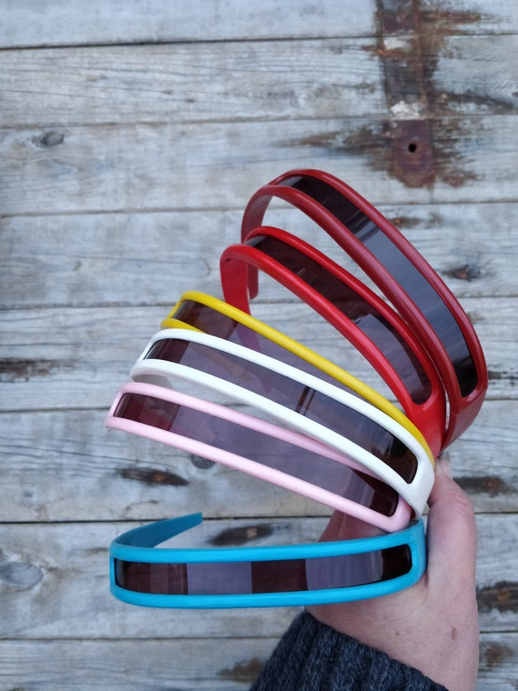 Crazy 60s/70s sunglasses....Red, blue ,White, yel… - image 3