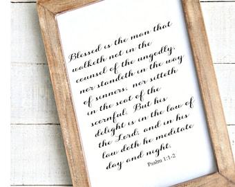 Psalm 112 | Etsy