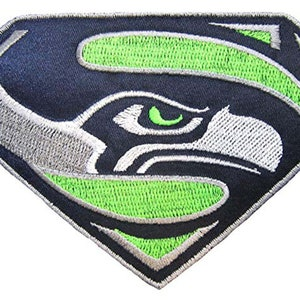 Iron on Patch Retro Steve Largent Embroidered Patch Go Hawks Seattle Seahawks Vintage Russell Wilson Old School