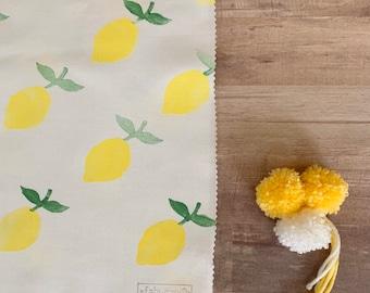 Fabric Gift Wrap - Lemon / Furoshiki / Eco-Friendly / Reusable Wrap / Wrapping / Lemon / Yellow Gift Wrap / Summer / Fruit / Wrapping Paper