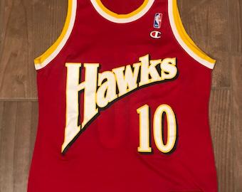 965daaa4b Vintage Champion ATL Hawks Mookie Blaylock Jersey Rare