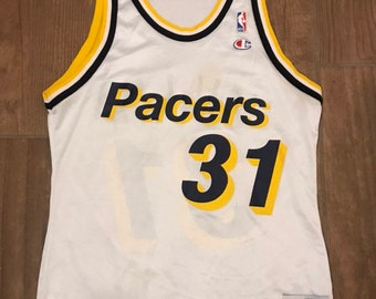 564a270b2cd4 Vintage Champion Indiana Pacers Reggie Miller Jersey
