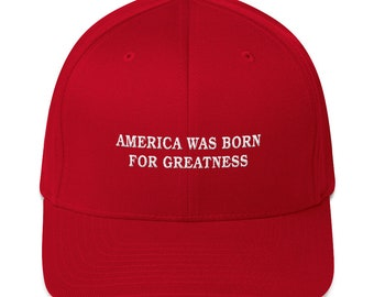 America Was Born For Greatness Trump Hat 702b497d6961