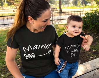 4b131aa60adb Mommy and me Shirts Boy Momma Mama's Boy Outfit | Mommy & Me Outfits | Momma's  Boy Baby Shower Gift | Matching Mommy and Me Outfits