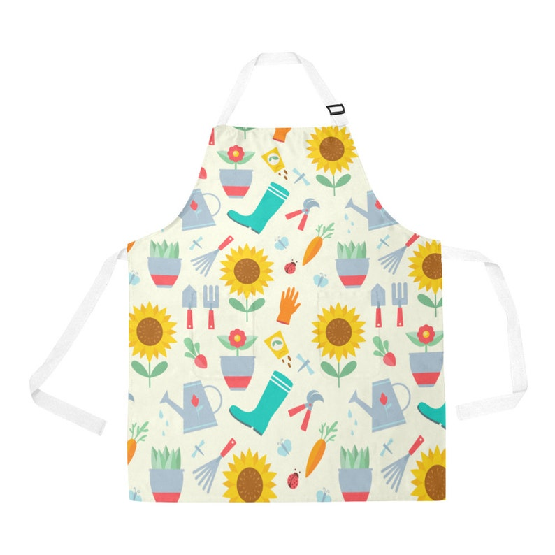 Cute Gardening Apron with Pockets image 0