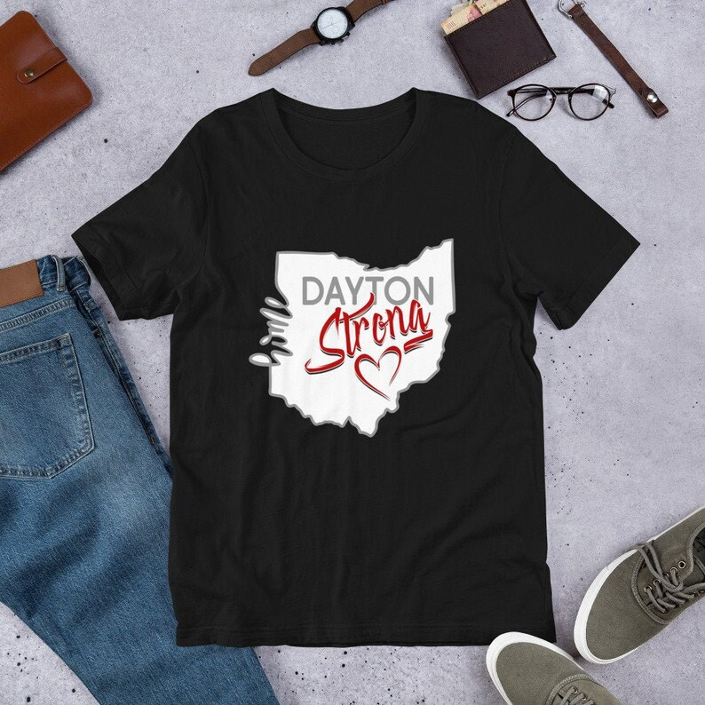 Dayton Strong Remembrance Tee T Shirt  937 Strong  Ohio Black