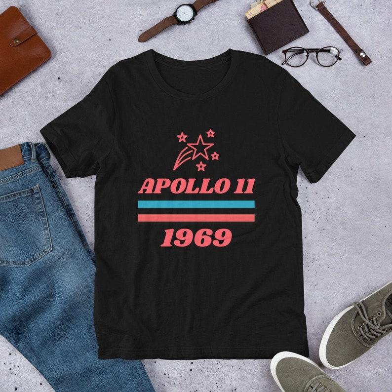 Apollo 11 Shirt 1969 for Men or Women  Moon Landing NASA image 0