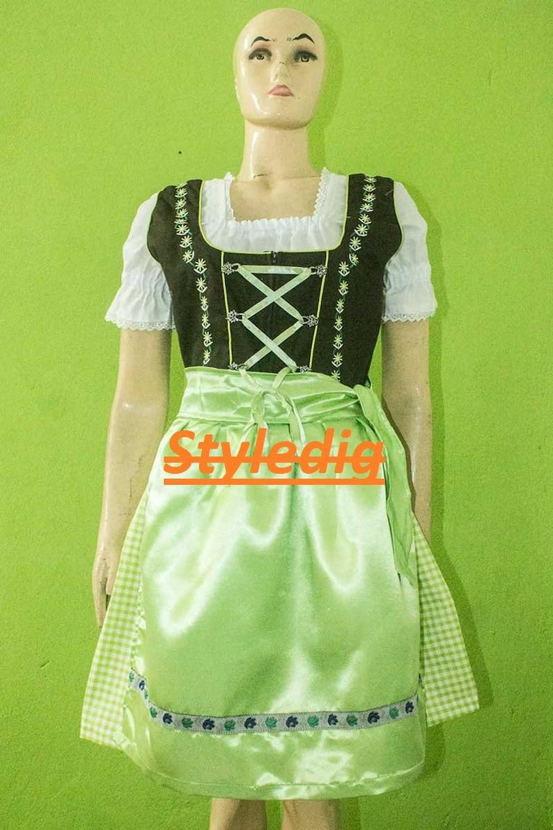 4208280f258 Women's German Dirndl Dress for Oktoberfest fastivol