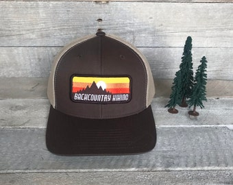 f218a7b144b Hiking Hat | Backcountry | Hiking | Camping Hat | Outdoors Hat | Mountain  Hat | Outdoor Gear | Sunset Patch | Baseball Hat | Snapback | Hat
