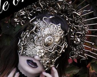 cosplay occult Medusa headpiece pagan fairy headdress gothic witch witcher snake fantasy pagan gorgon