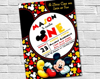 Mickey Mouse Invitation Birthday Digital