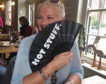 Hot Stuff Hand-held 100% eco-friendly fabric fan by Fan Fatale