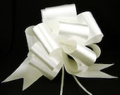 Set of 20 - White 8 quot Pew Church Aisle Pull Bow Decoration