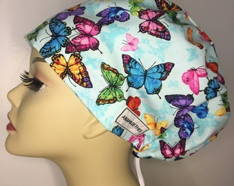 Birds Dragonflies European Style Scrub Hat Butterflies