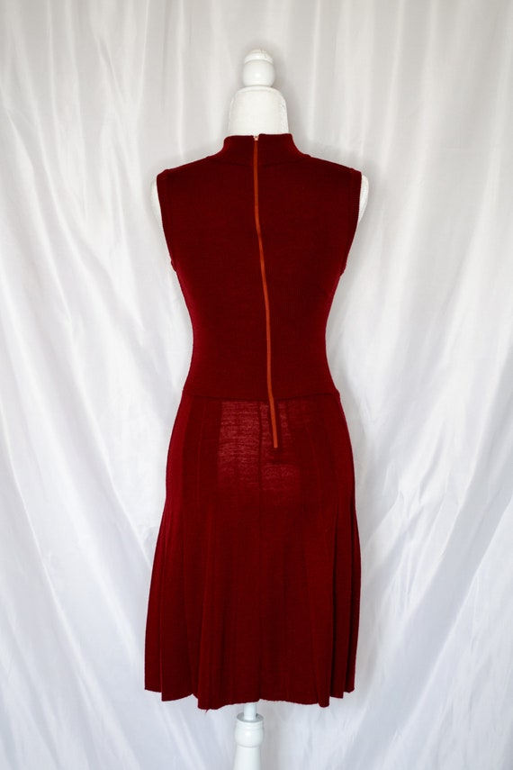 Vintage 70s Rust Red Sweater Dress by Roncelli, V… - image 7