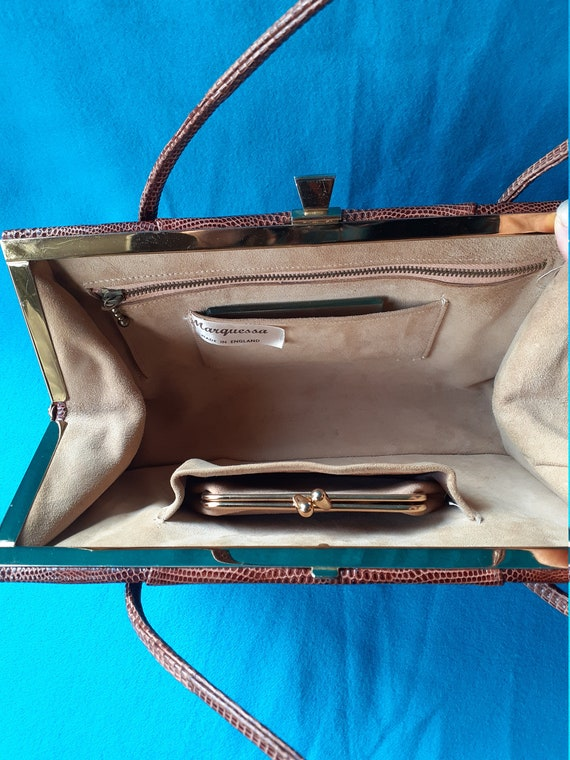 Vintage Marquessa 1950s conker brown leather Kell… - image 4