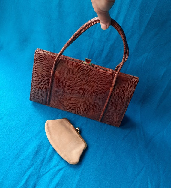 Vintage Marquessa 1950s conker brown leather Kell… - image 8