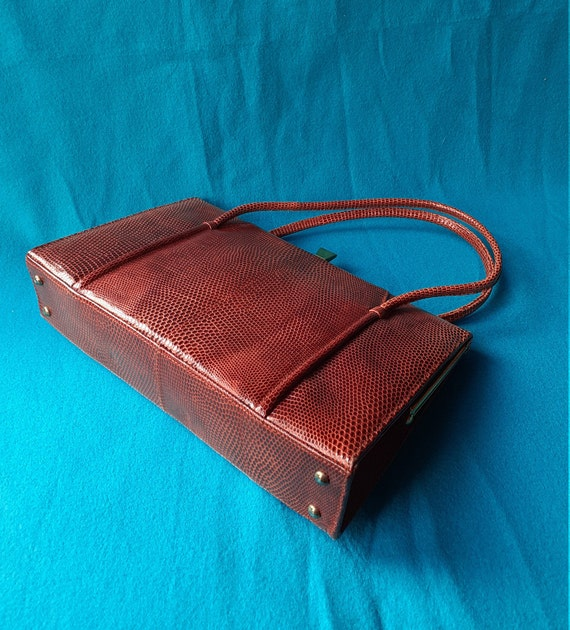 Vintage Marquessa 1950s conker brown leather Kell… - image 6