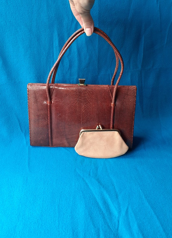 Vintage Marquessa 1950s conker brown leather Kelly
