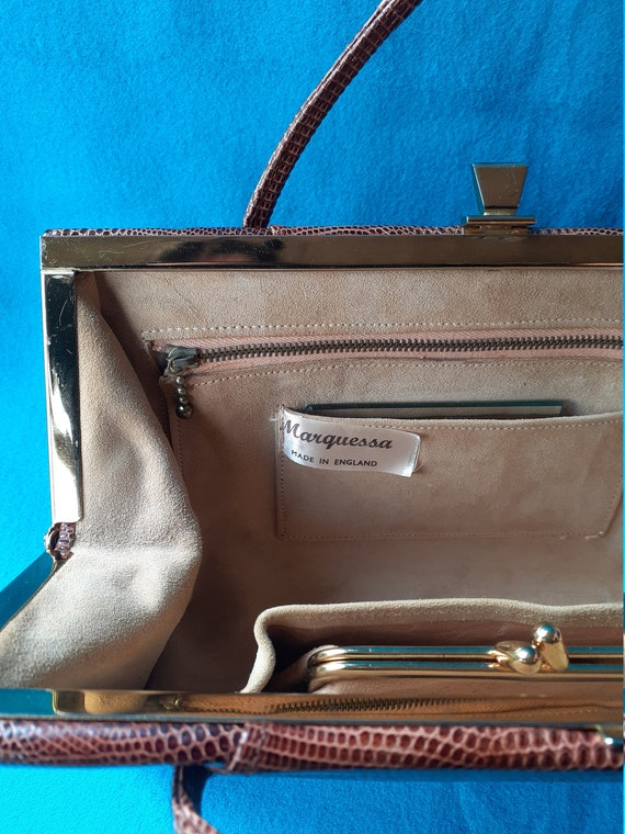 Vintage Marquessa 1950s conker brown leather Kell… - image 5