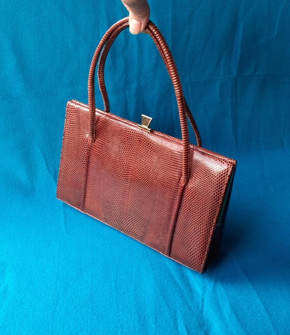 Vintage Marquessa 1950s conker brown leather Kell… - image 3