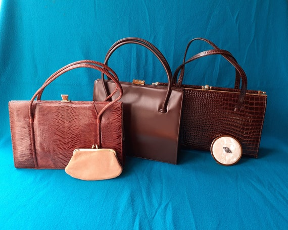 Vintage Marquessa 1950s conker brown leather Kell… - image 9