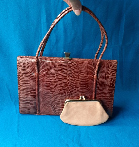 Vintage Marquessa 1950s conker brown leather Kell… - image 2