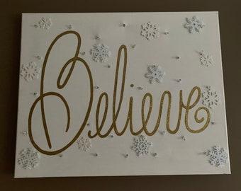 Christmas Canvas Etsy