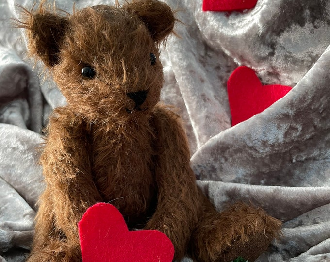 Steiff Mohair, Traditional Jointed, Valentine Teddy Bear - Simon (Lord Hastings)