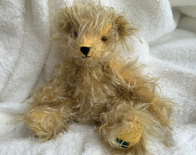 Mohair Traditional Jointed Teddy Bear Collectable Eco Gift - Jake