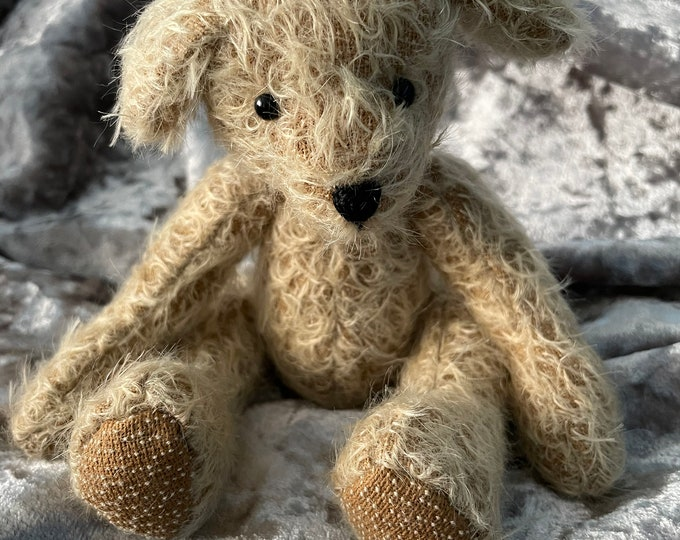 Mohair traditional Jointed Teddy Bear Lockdown Gift Puppy Love In Memory