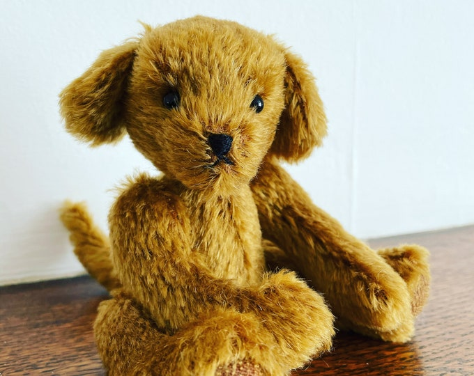 Steiff Mohair, Traditional Jointed, Mohair Puppy DevonGrizzlies
