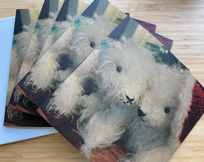Vintage Polar Bear DevonGrizzlies Christmas Cards (pack of four)